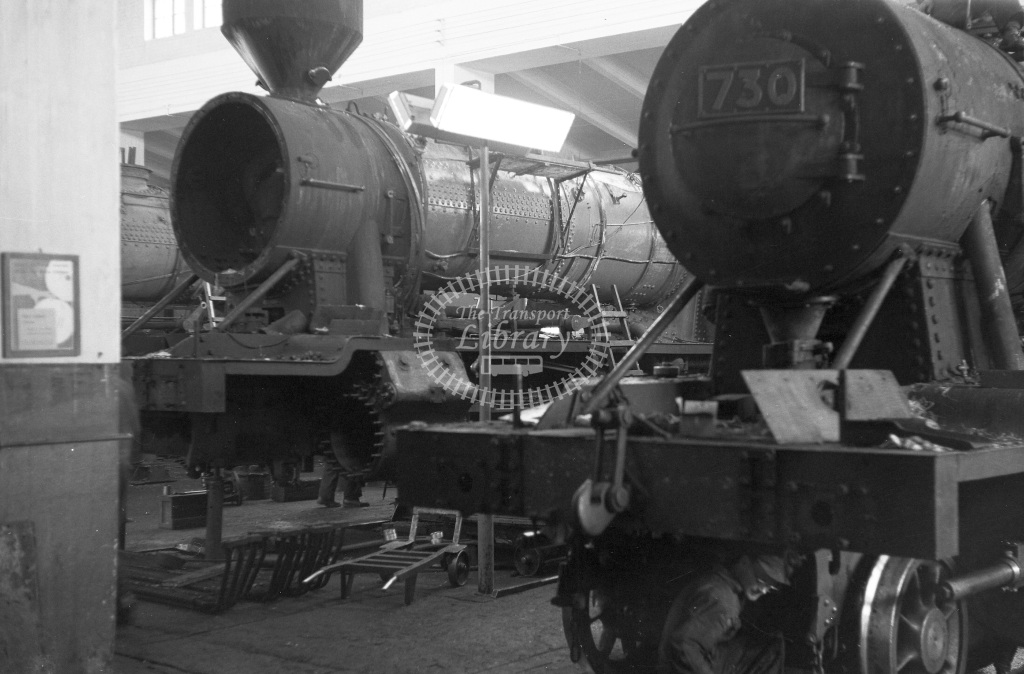 VR Finland Railways Steam Locomotive Class Vr Class Tv1 2-8-0 730  in 1962 -  01/05/1962  - Peter Gray