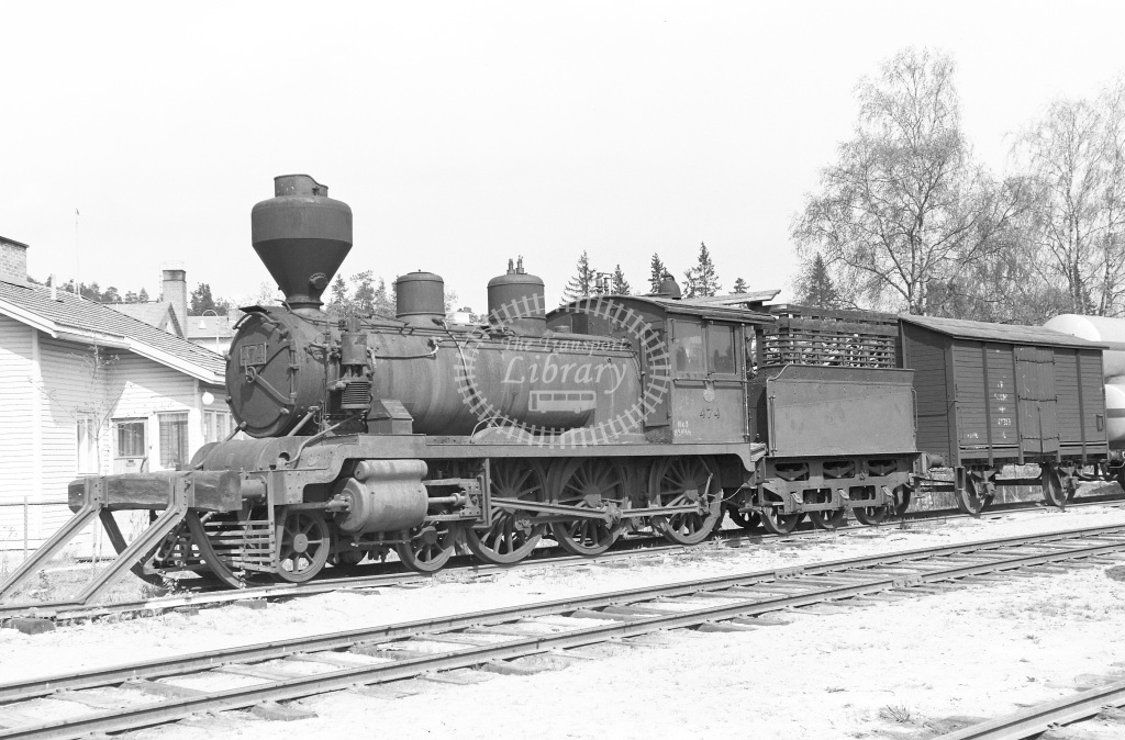 VR Finland Railways Steam Locomotive Class Vr Class Hk3 4-6-0 474  in 1962 -  01/05/1962  - Peter Gray