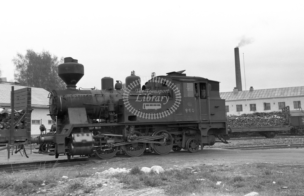VR Finland Railways Steam Locomotive Class Vr Class Vr2 0-6-2T 960  in 1962 -  01/05/1962  - Peter Gray