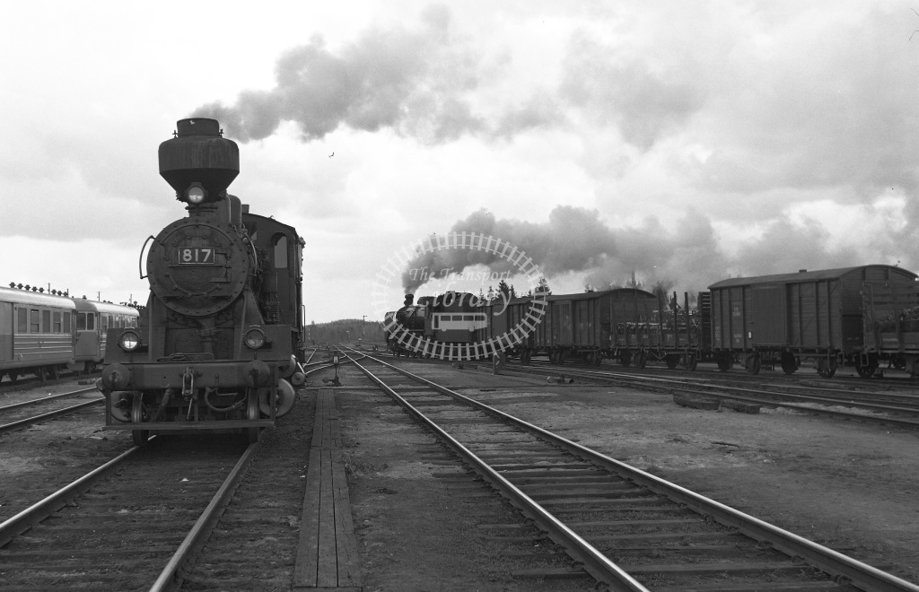 VR Finland Railways Steam Locomotive Class Vr Class Tk3 2-8-0 817  in 1962 -  01/05/1962  - Peter Gray