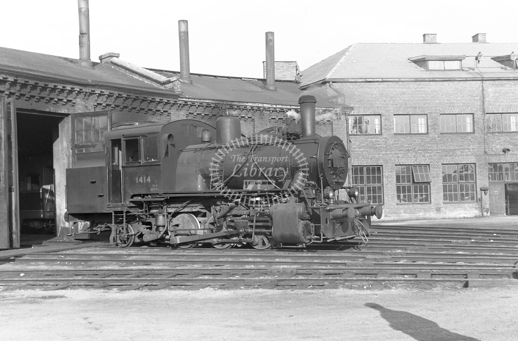 VR Finland Railways Steam Locomotive Class Vr Class Vr5 0-6-2T 1414  in 1962 -  01/05/1962  - Peter Gray