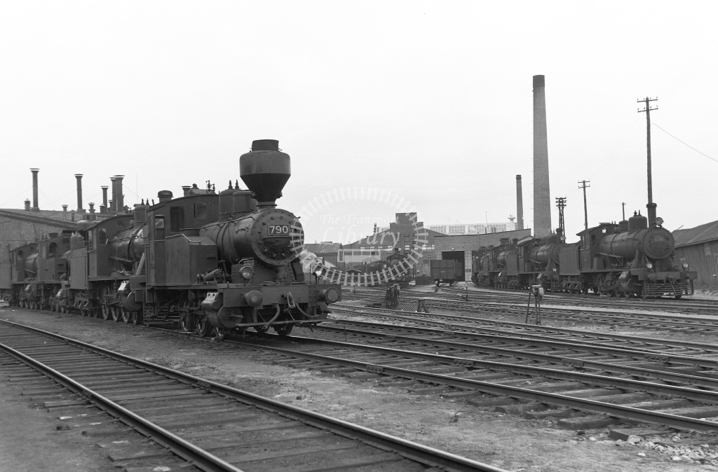 VR Finland Railways Steam Locomotive Class Vr Class Vr1 0-6-0T 790  in 1962 -  01/05/1962  - Peter Gray