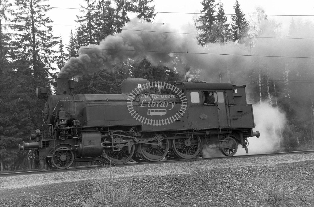 TGOJ Trafikaktiebolaget Grangesberg - Oxelosund Jarnvager Steam Locomotive Class TGOJ 2-6-2T 60  at Grangesberg (not verified)  in 1962 -  01/05/1962  - Peter Gray