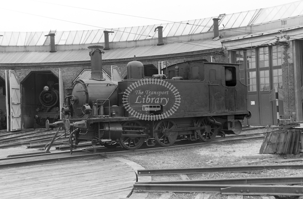 TGOJ Trafikaktiebolaget Grangesberg - Oxelosund Jarnvager Steam Locomotive Class TGOJ 0-6-0T 118  at Grangesberg (not verified)  in 1962 -  01/05/1962  - Peter Gray