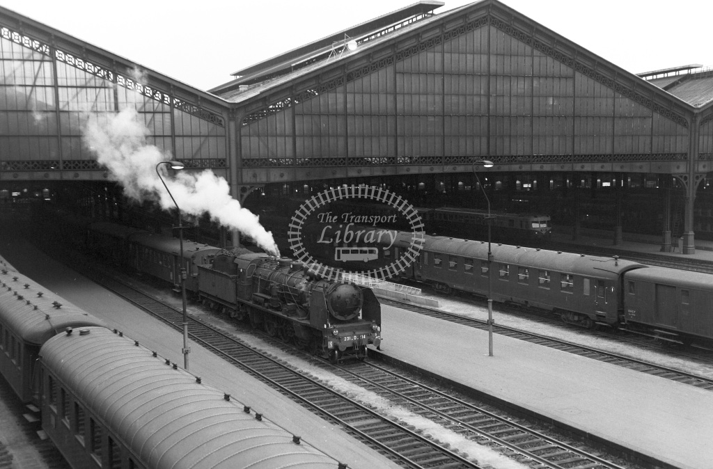 SNCF French Railways Steam Locomotive Class 231D 4-6-2 231D514  at Paris St. Lazare  in 1963 -  29/04/1963  - Peter Gray