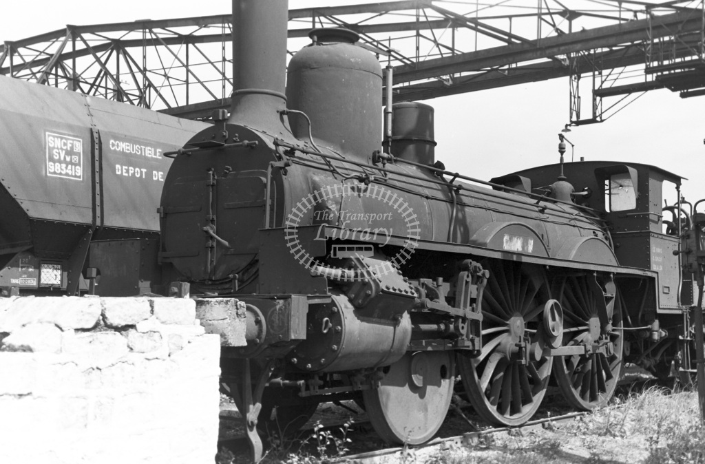 SNCF French Railways Shed Scene  Class Class A 2-4-0 120A54  at Batignolles MPD  in 1963 -  12/05/1963  - Peter Gray
