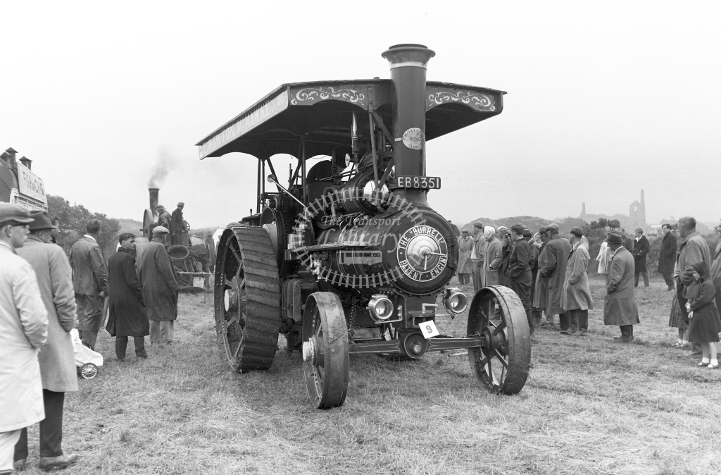 Private Operator Traction Engine Class Burrell EB 8351  in 1963 -  06/07/1963  - Peter Gray