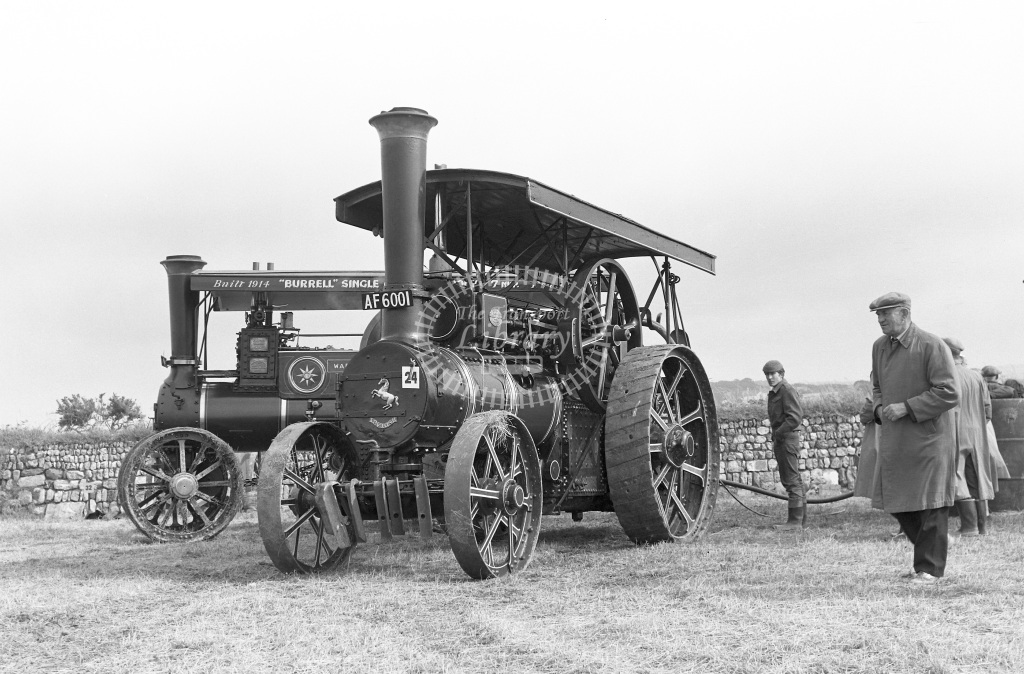 Private Operator Traction Engine Class Burrell Single BP 5921  in 1963 -  06/07/1963  - Peter Gray