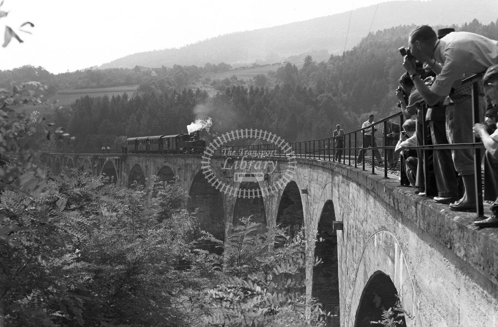 St. L.B. Steiermarkische Landesbahnen Steam Locomotive Class St. L.B. Krauss (5513/06) 0-6-2T S.12  at Weiz -Birkfeld  in 1963 -  03/09/1963  - Peter Gray