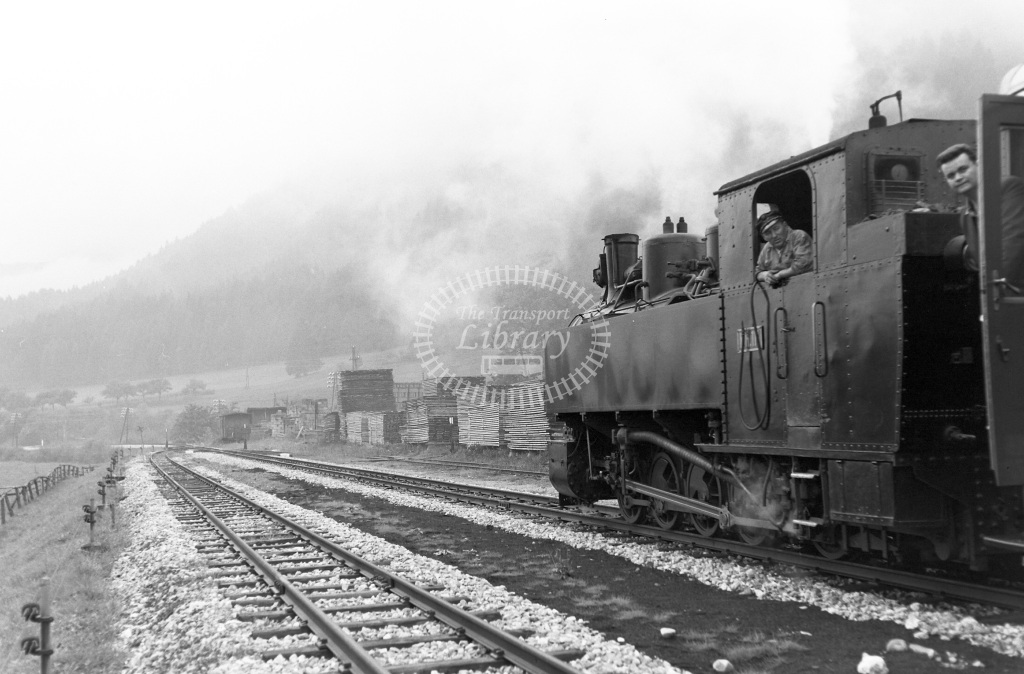 St. LB Railways of the State Styria (Murtalbahn) Steam Locomotive Class Krauss (Linz) 0-10-0T (1519/1930) KH111  at Unzmarkt - Murau-Stolzalpe  in 1963 -  05/09/1963  - Peter Gray