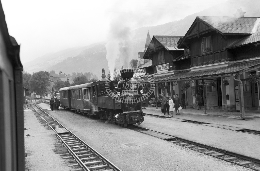 St. LB Railways of the State Styria (Murtalbahn) Steam Locomotive Class Krauss (Linz) 0-6-2T (3065/1894)  U11 Mauterndorf  at Murau-Stolzalpe  in 1963 -  05/09/1963  - Peter Gray