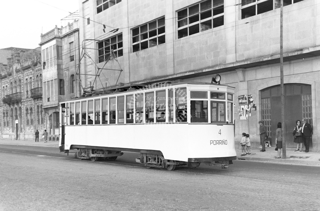 Vigo - Porrino Tramway Tram/Strassenbahn Porrino Car No. 4  at Vigo - Porrino  in 1964 -  14/05/1964  - Peter Gray