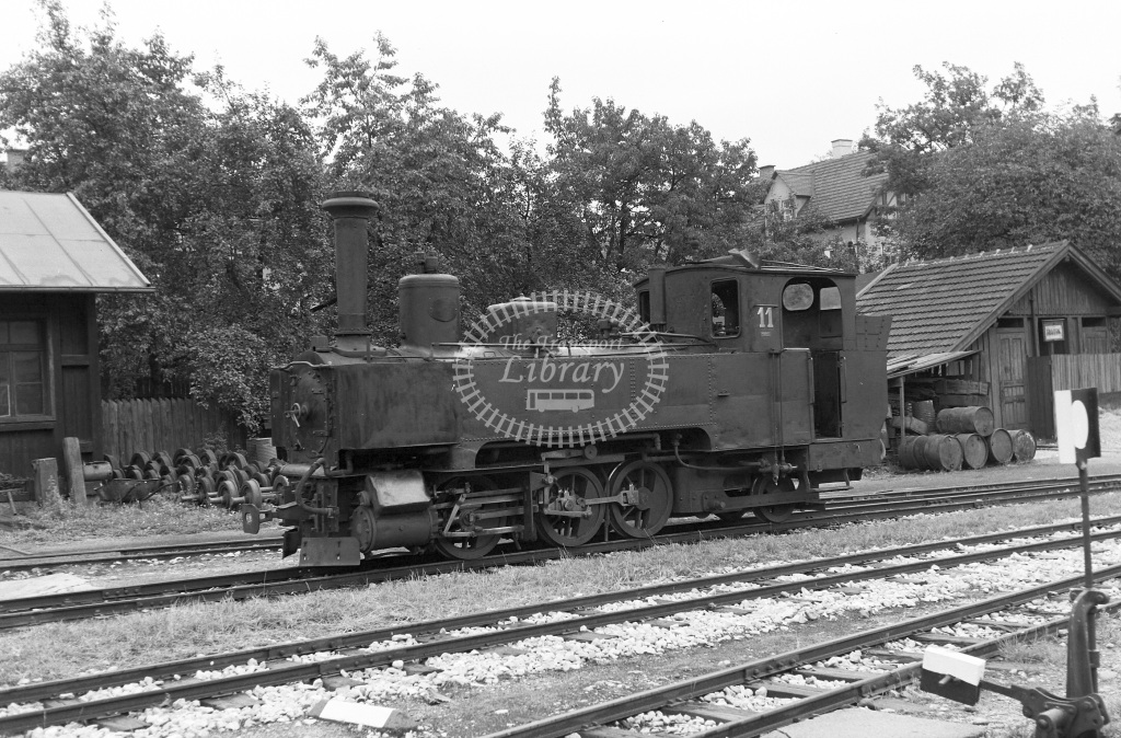 Steiermarkische Landsesbahnen Steam Locomotive Class 0-6-2T 11  at Kapfenberg  in 1964 -  30/08/1964  - Peter Gray