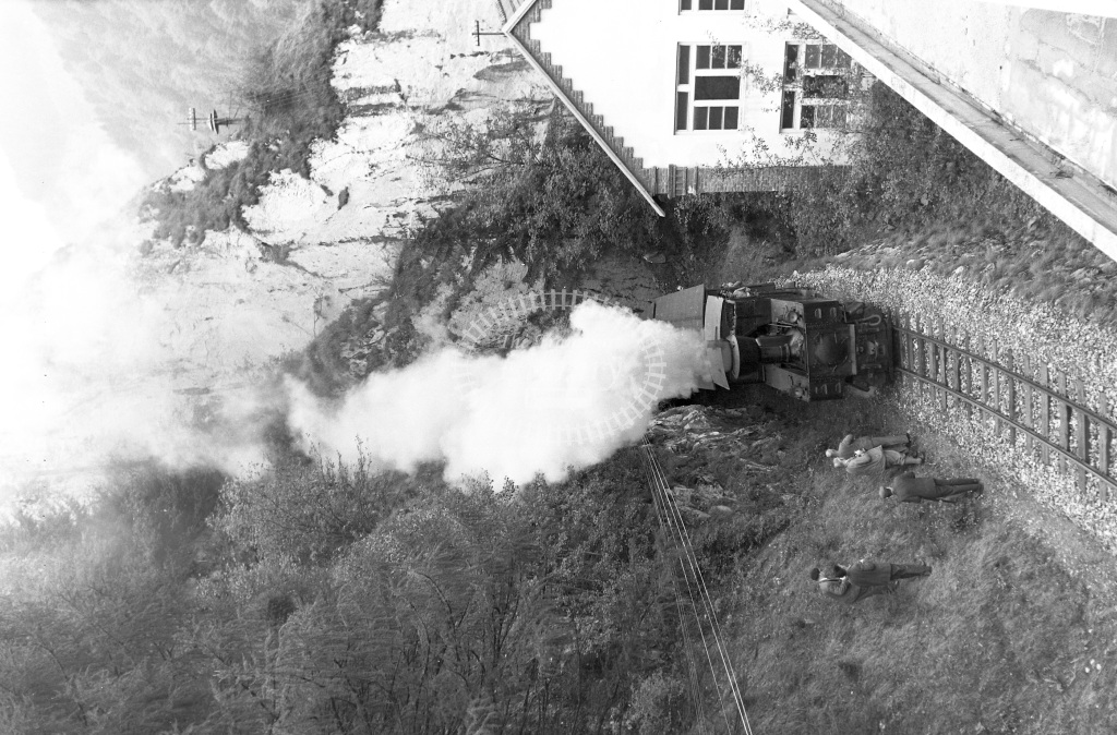 Steiermarkische Landsesbahnen Steam Locomotive Class Class Z 0-6-0T 6 Throl  at Between Kapfenberg & Seebach-Turnau  in 1964 -  30/08/1964  - Peter Gray