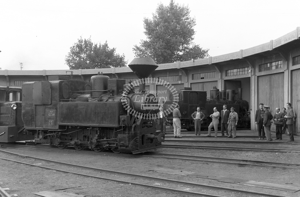 MAV Hungary Railways Steam Locomotive Class MAV Class 492 0-8-0T 492.017  at Bekescsaba NG MPD  in 1964 -  03/09/1964  - Peter Gray