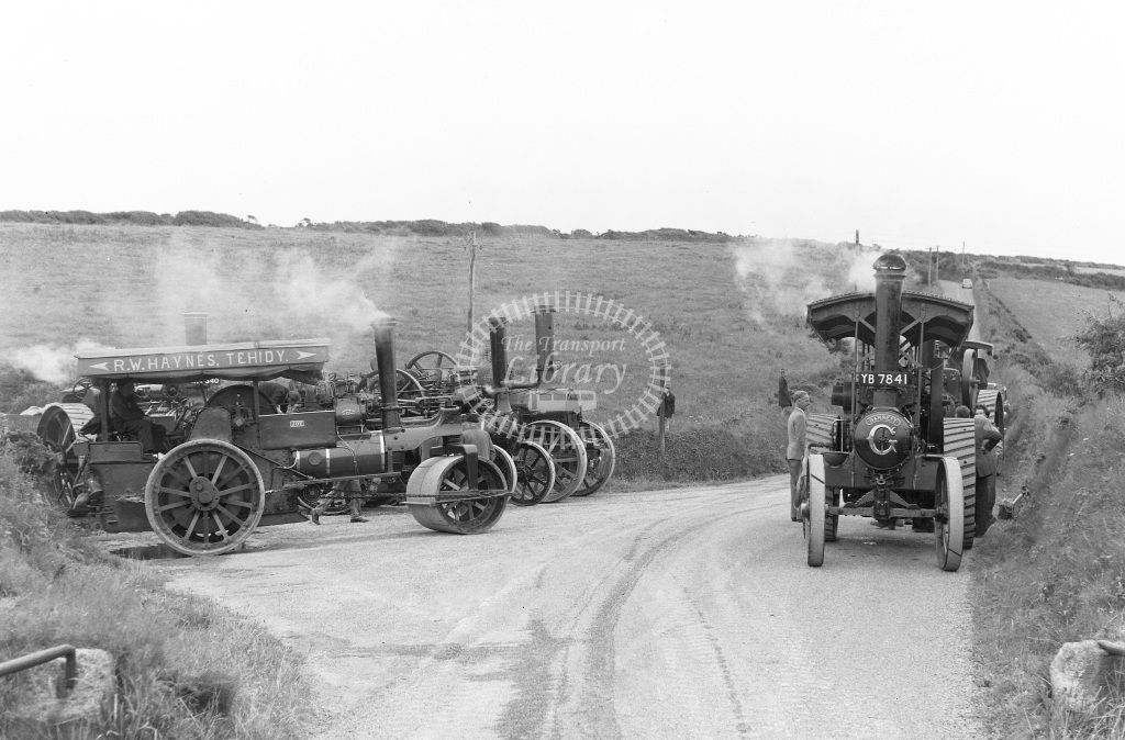 Private Owner Traction Engine Class Garrett Tractor (b. 1926) YB 7841 34789 Cornish Star  at Camborne  in 1965 -  24/07/1965  - Peter Gray