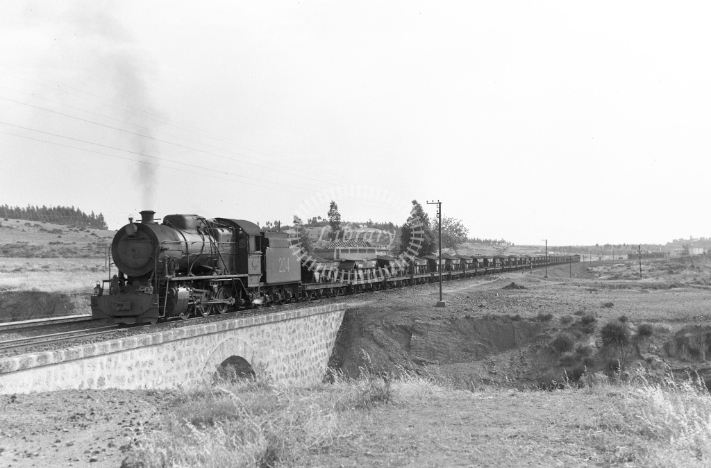 The Riotinto Company Limited Steam Locomotive Class RSH 2-6-0 b. 1953 204  at Los Mallas  in 1966 -  27/05/1966  - Peter Gray