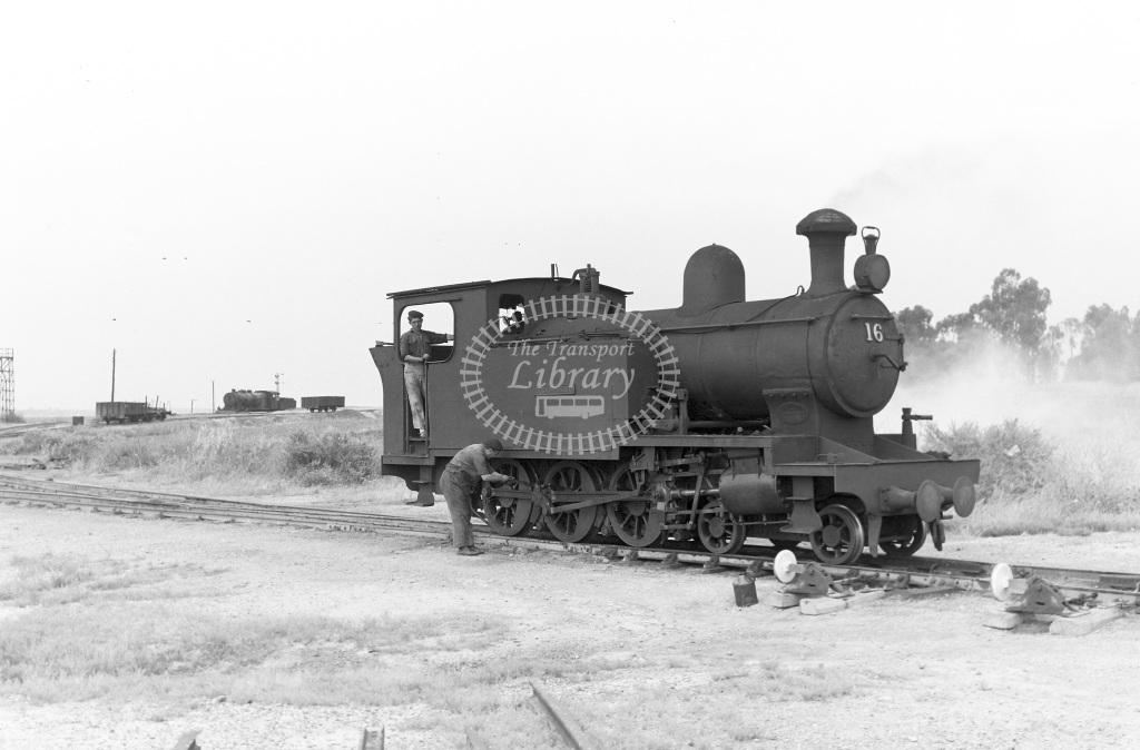 The Riotinto Company Limited Steam Locomotive Class Andrew Barclay 4-6-0T (1135/08) 16 St. Cornelio  in 1966 -  27/05/1966  - Peter Gray