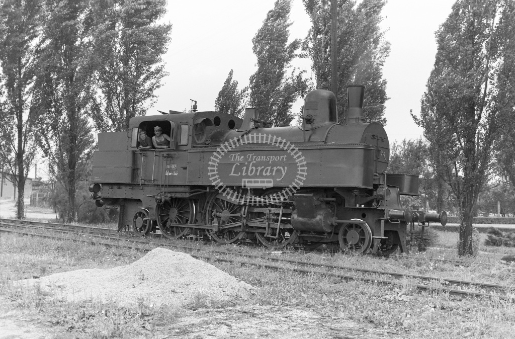 Zeljezara Steelworks Steam Locomotive Class Class 116 2-6-2T (ex-DR Class 75) 116.012  at Sisak Steelworks  in 1966 -  07/07/1966  - Peter Gray