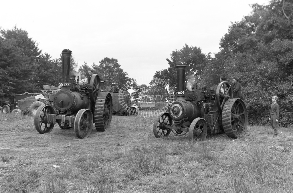 Private Owner Traction Engine Class Marshall GP (b.1931) OD 177 86265  at Upton Pyne  in 1966 -         September - Peter Gray