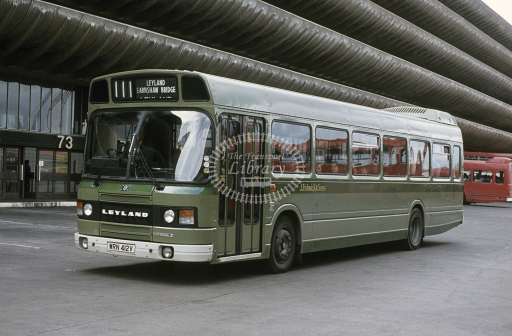 Leyland Leyland National 2 27 ABV939Y at Leyland Garage in 1983 PHOTO Fishwick