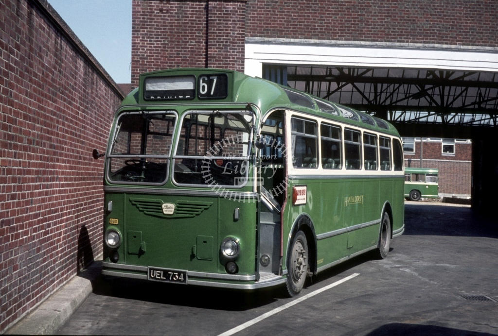 Hants and Dorset / Wilts and Dorset Bristol LS6G 660 UEL734 at Winchester Bus Stn in 1971 - May 1971 - Peter Henson