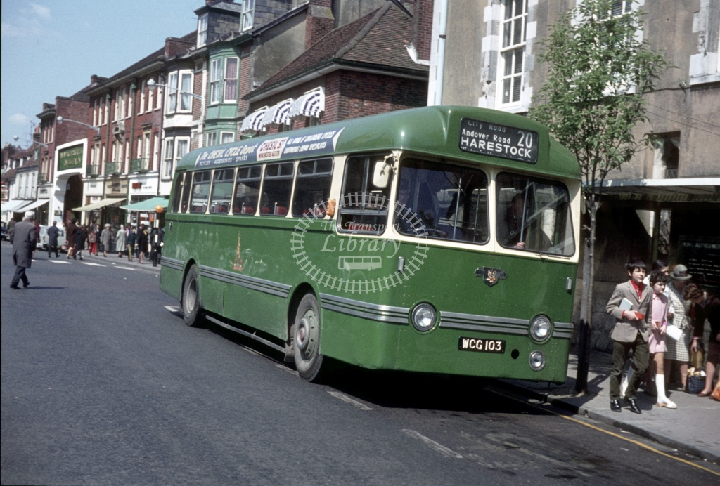 King Alfred Leyland PSUC1/1 WCG103 at Winchester  in 1971 - May 1971 - Peter Henson