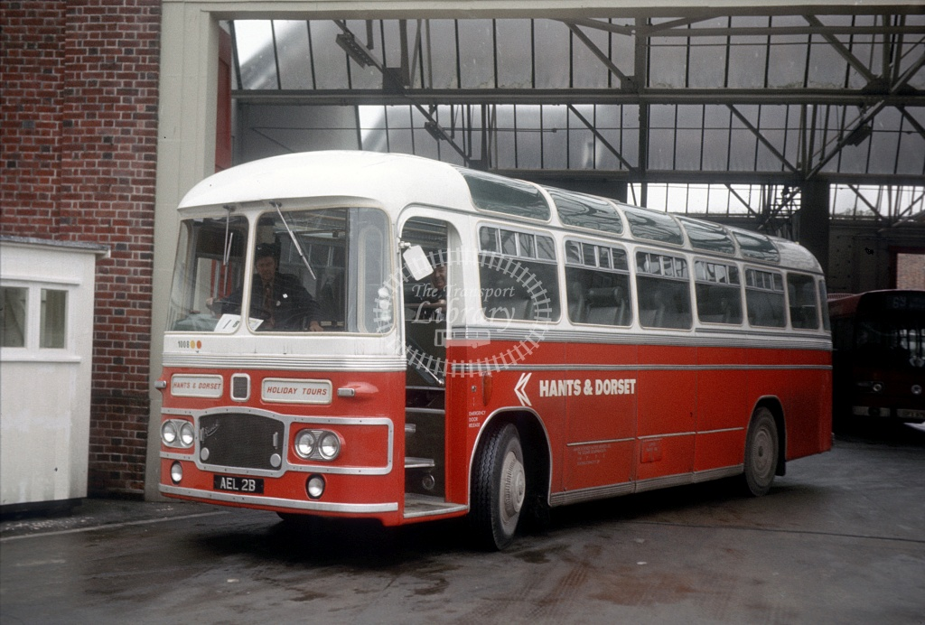 Hants and Dorset / Wilts and Dorset Bristol MW6G 1008 AEL2B at Winchester Bus Stn in 1975 - 27454 - Peter Henson