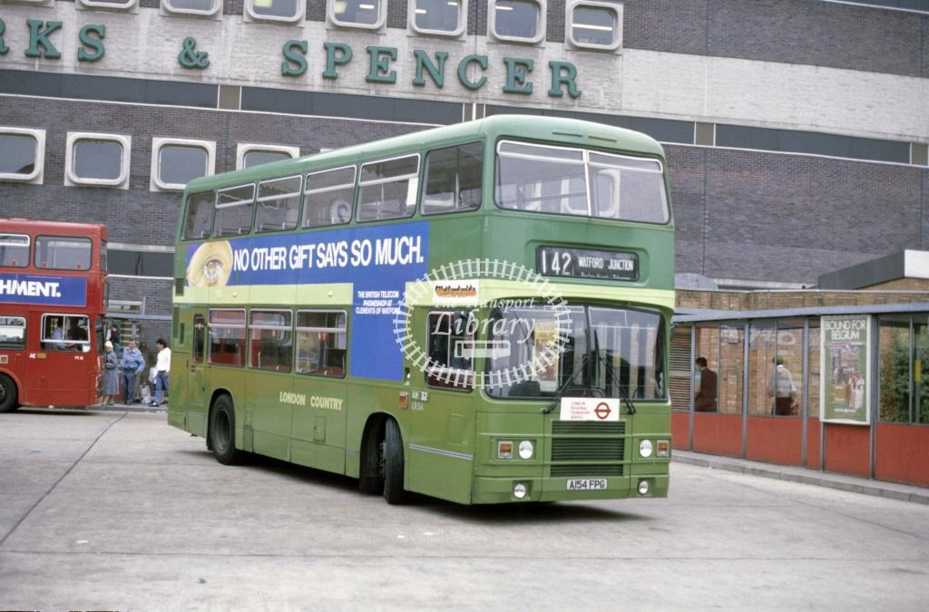 London Country Leyland ONTL LR 54 A154FPG at Brent Cross in 1986 - Sep-86 - Peter Henson