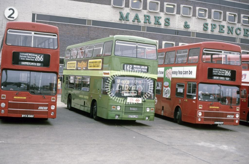 London Country Leyland ONTL LR 73 B273LPH at Brent Cross in 1986 - Sep-86 - Peter Henson
