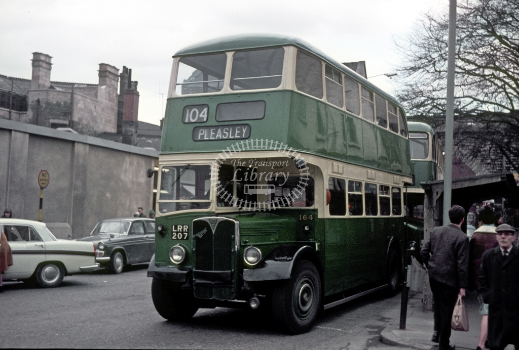 PHOTO Mansfield and District AEC Regent III 159 KAL697 at Sutton Rd Garage 1966