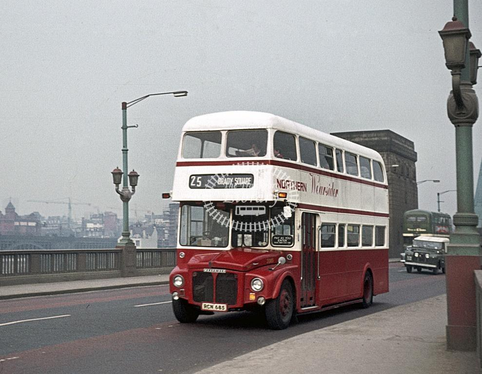 Northern General AEC Routemaster 2085 RCN685 at Newcastle Area in 1973 - Apr-73 - Peter Henson