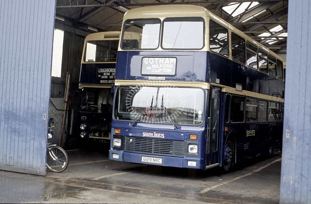 South Notts, Gotham Leyland ONCL 129/699 G129NRC in 1990 - Peter Henson