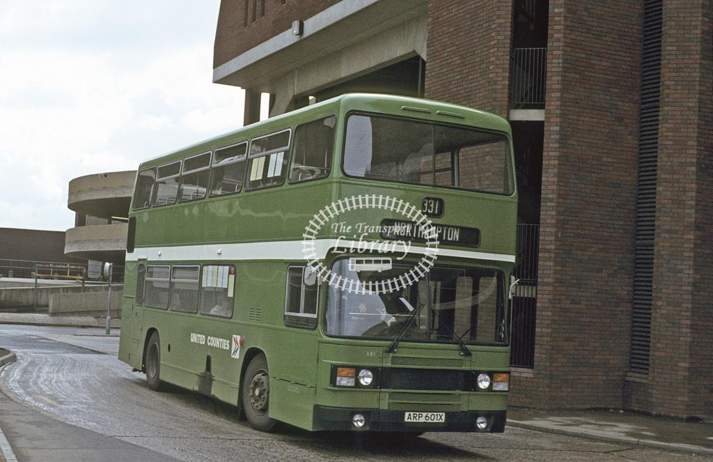 United Counties Leyland ONLXB 601 ARP601X at Northampton area in 1982 - May 1982 - Peter Henson