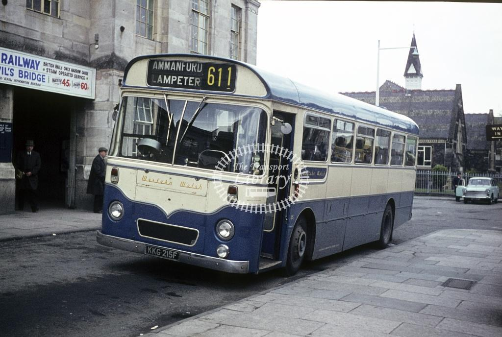 Western Welsh AEC Reliance 215 KKG215F at Aberystwth area in 1971 - Apr 1971 - Peter Henson