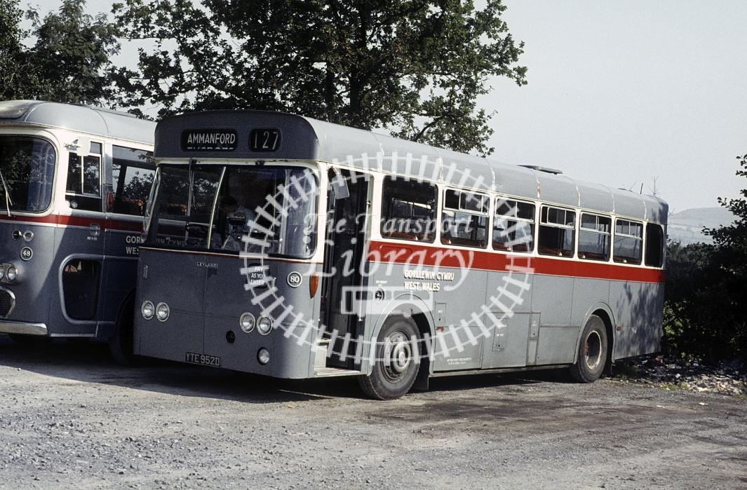 West Wales, Tycroes Leyland PSUC1/12 80 YTE952D at Garage in 1980 - 29434 - Peter Henson