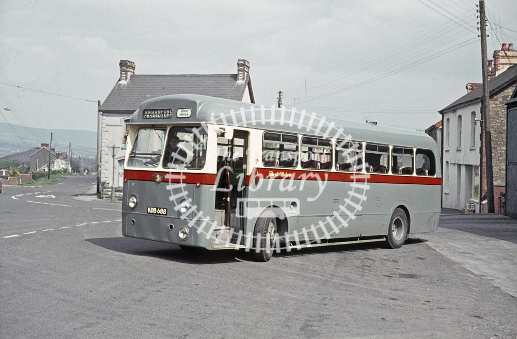 West Wales, Tycroes Leyland PSUC1/1 62 KDB688 at Garage in 1971 - Apr 1971 - Peter Henson