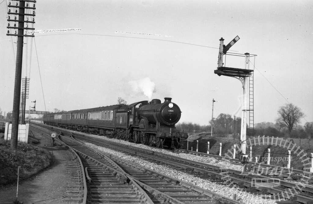 BR British Railways Steam Locomotive Class D16/3 62534  at Cambridge in 1956 - 02/04/1956 - Peter Hay