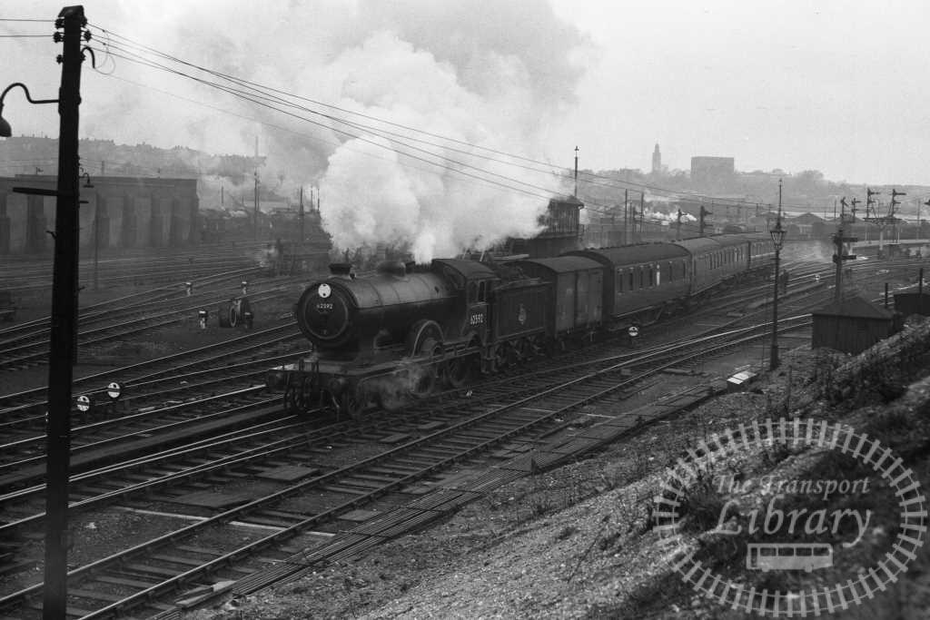 BR British Railways Steam Locomotive Class D16/3 62592  at Norwich in 1956 - 05/04/1956 - Peter Hay