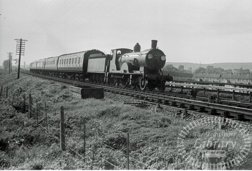BR British Railways Steam Locomotive Class T9 30120  at Cosham in 1955 - 01/05/1955 - Peter Hay