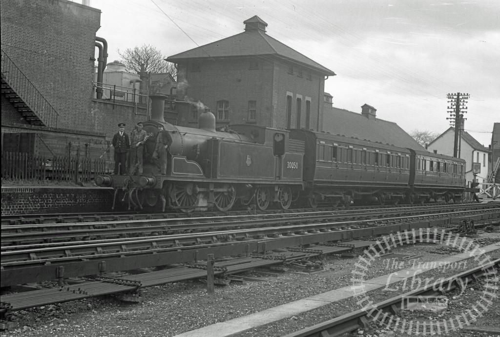 BR British Railways Steam Locomotive Class M7 30050  at Petersfield in 1954 - 14/04/1954 - Peter Hay