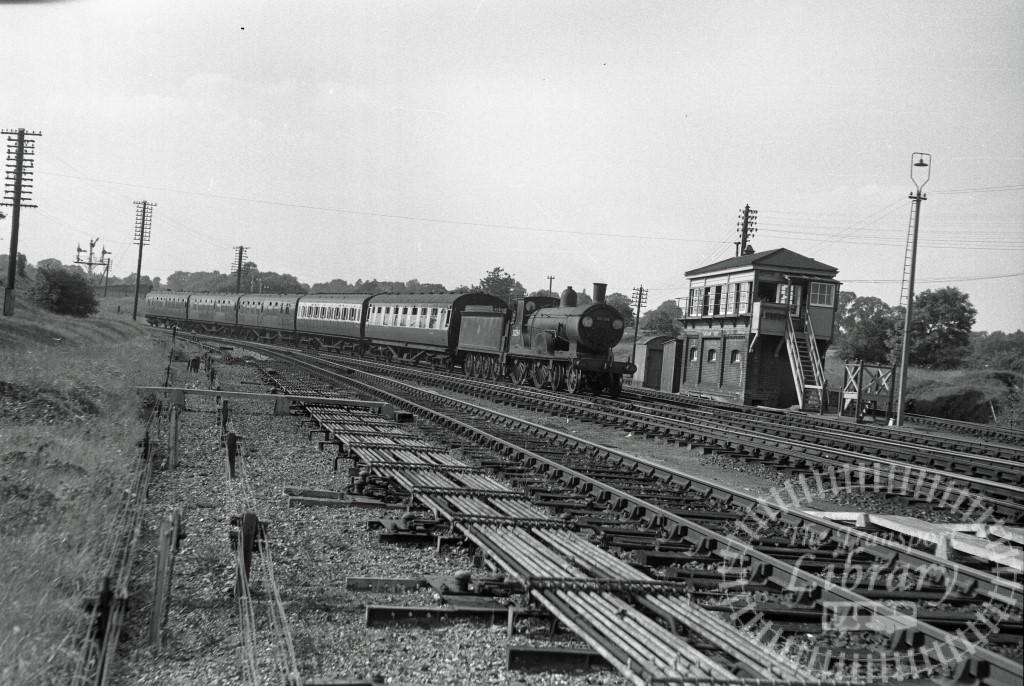 BR British Railways Steam Locomotive Class T9 30284  at Fareham in 1955 - 01/06/1955 - Peter Hay