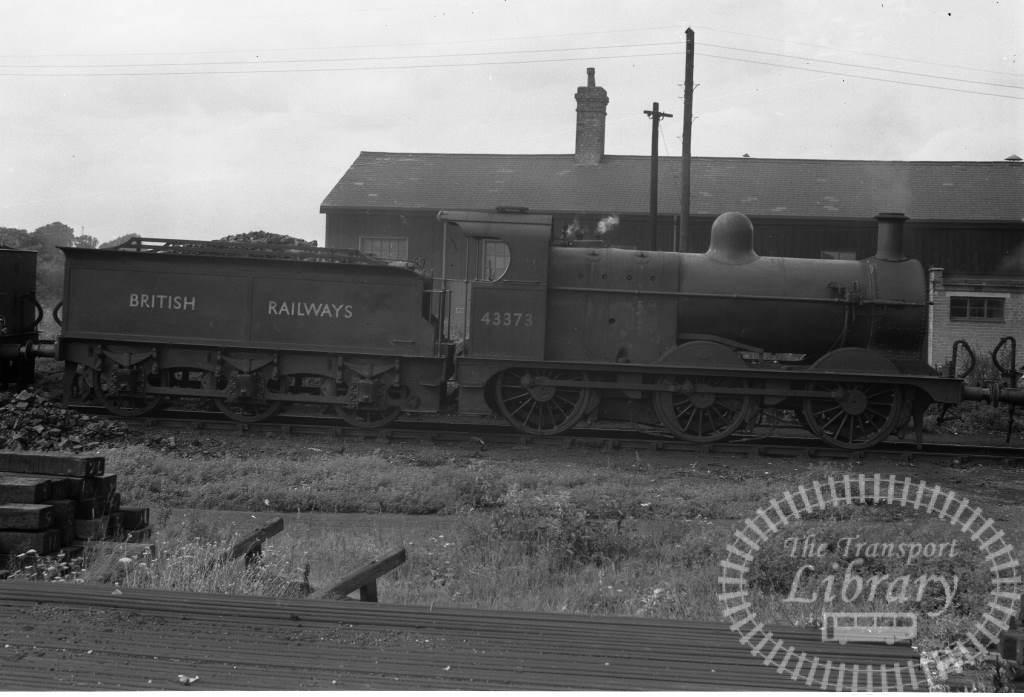 BR British Railways Steam Locomotive Class 3F-CB 43373  at Gloucester Shed in 1953 - 30/08/1953 - Peter Hay