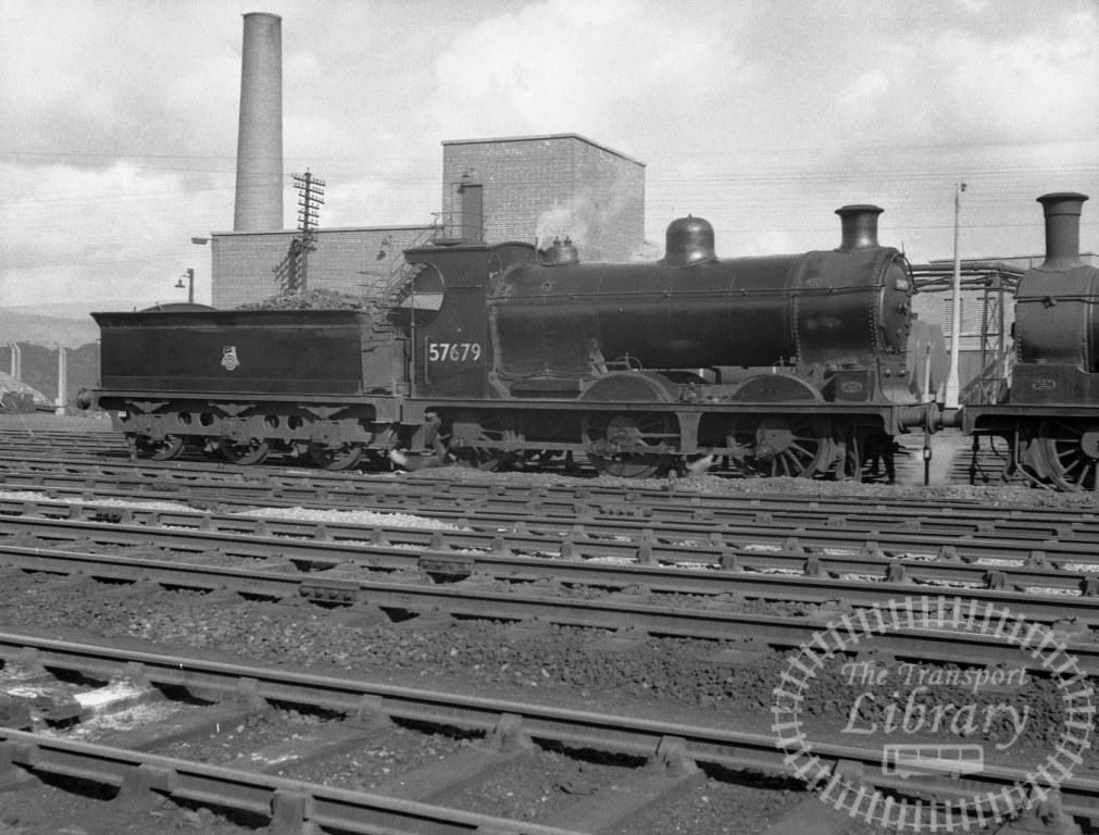 BR British Railways Steam Locomotive Class 3F-K 57679  at Stirling Shed in 1959 - 28/03/1959 - Peter Hay