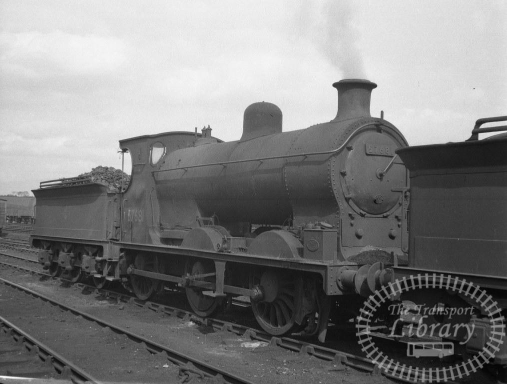 BR British Railways Steam Locomotive Class 3F-K 57681  at Motherwell Shed in 1960 - 01/05/1960 - Peter Hay