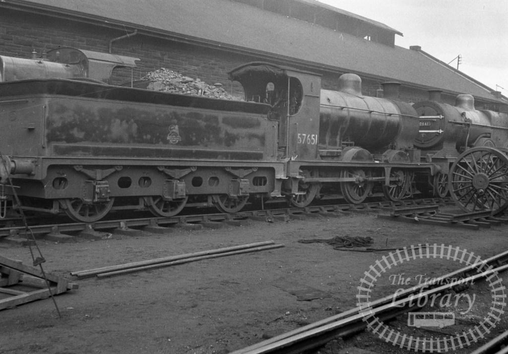 BR British Railways Steam Locomotive Class 3F-K 57651  at Hurlford Shed in 1958 - 06/04/1958 - Peter Hay