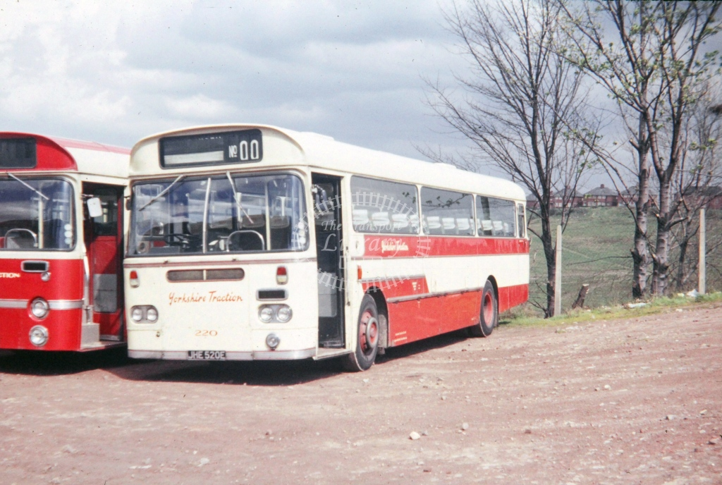 Yorkshire Traction Leyland Leopard Marshall FNS 220 JHE520E  at Barnsley  in 1972 -  26419  - P J Taplin