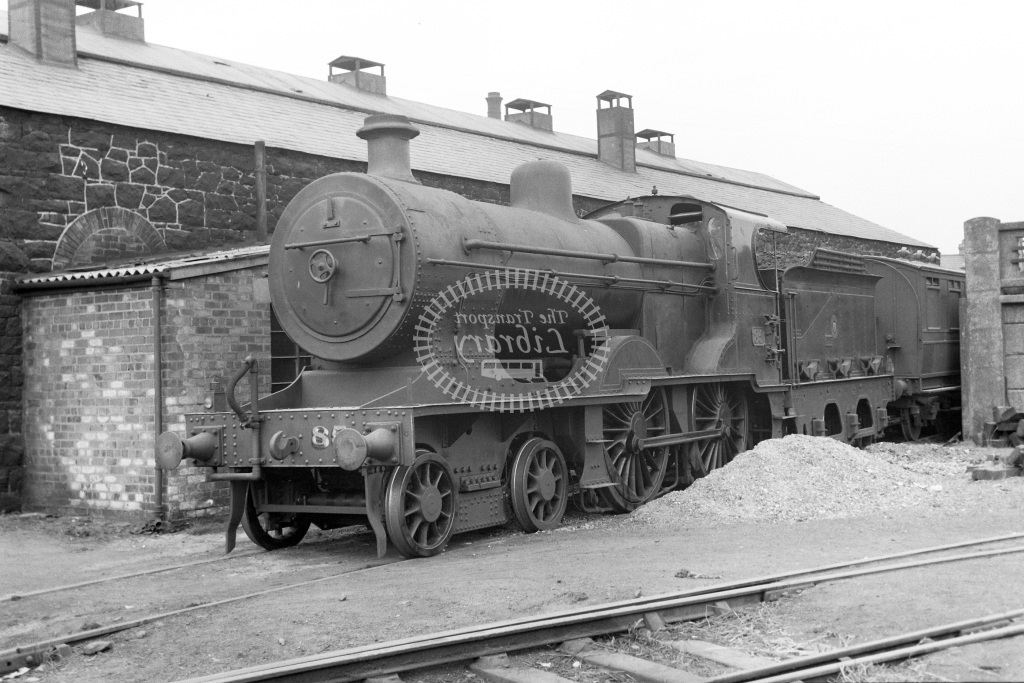 UTA Ulster Transport Authority Steam Locomotive 85  at Larne  in 1955 -  19/06/1955  - Peter Gray