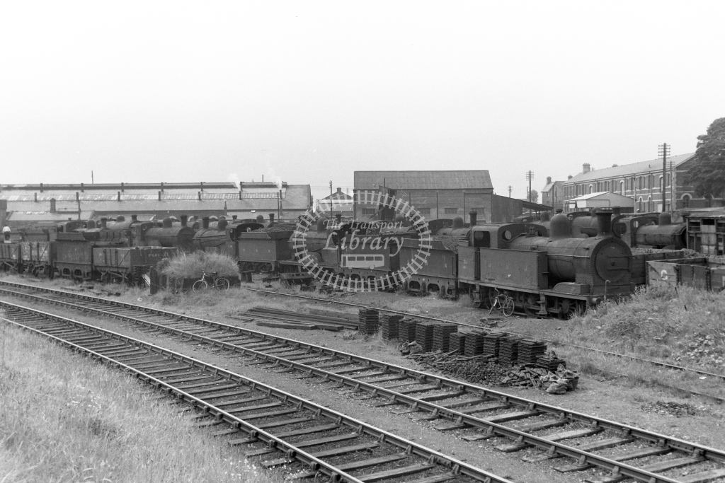 GNR(I) Great Northern Railway (Ireland) Steam Locomotive Dumped  at Dundalk  in 1955 -  20/06/1955  - Peter Gray
