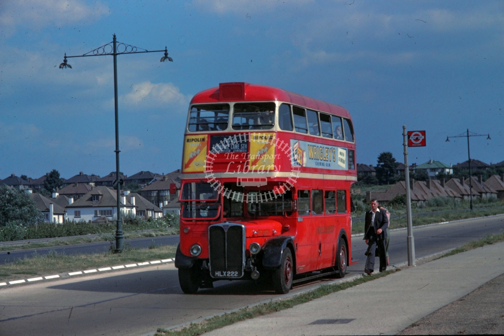 London Transport AEC Regent Class RT RT405  on route 144 HLX222  at Woodford Avenue  in 1949 -  26/07/1949  - R E Vincent